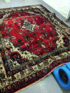 Colourful rug with a turbo drier