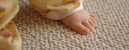 carpet with childs foot