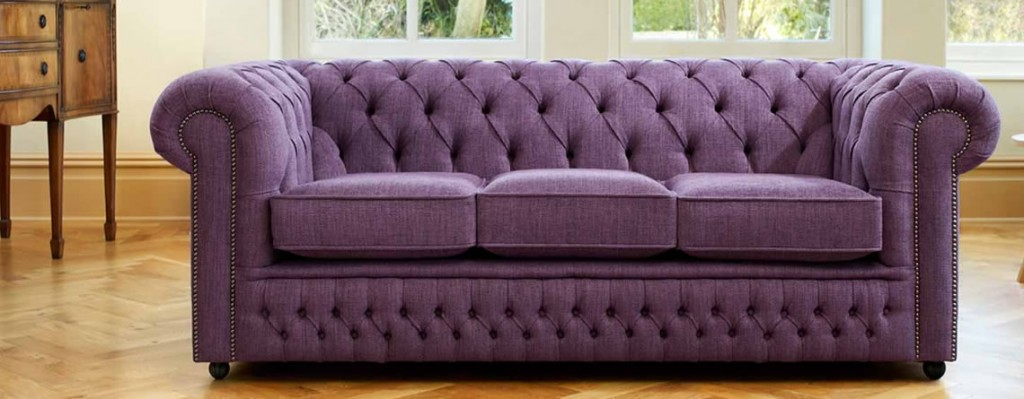 clean purple sofa