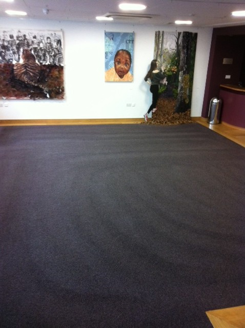 School reception carpeted area