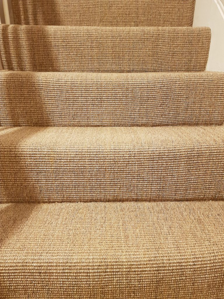 Clean sisal carpet