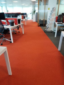 orange office carpet