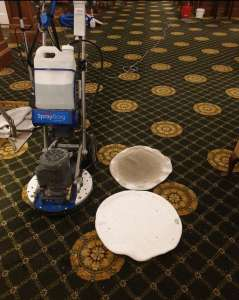 Public area hotel carpet cleaning