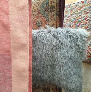Rugs drying at our workshop