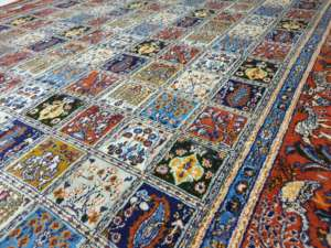 colourful rug in our workshop